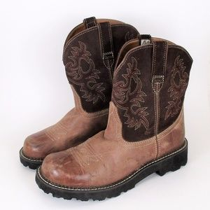 Ariat Fatbaby Cowboy Western Boot Brown Leather 11